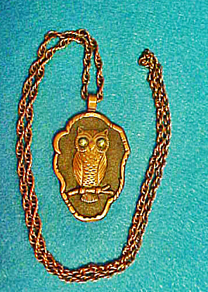 Owl Pendant W/chain - Copper