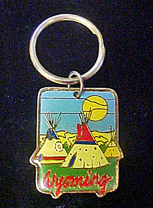 Wyoming Teepee Design Keychain