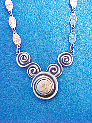 Art Deco Style Scroll Necklace