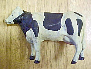 Holstein Black & White Cast Iron Cow