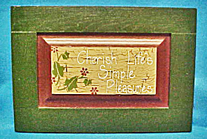 Wooden Wall Plaque - Vintage