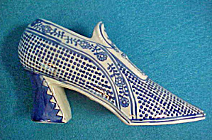 Ceramic Shoe - Cobalt Blue/white