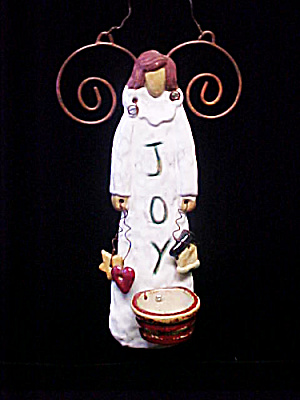 Joy Ceramic Angel Candle Holder