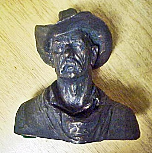 Cowboy Bust Sculpture - Signed Michael Garman (Image1)