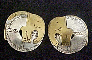 Elephant Clip On Earrings - Vintage