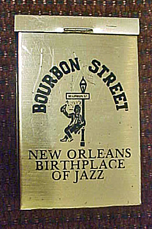 Cigarette Tin Advertising Box - Bourbon St
