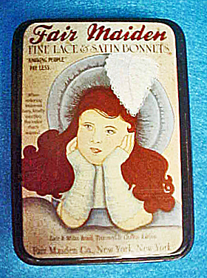Fair Maiden Tin Container - Vintage (Image1)