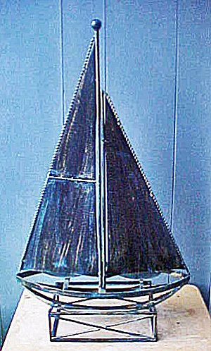 Large Metal Sailboat Sculpture (Image1)