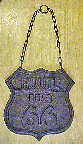 Route 66  Cast Iron Emblem Sign (Image1)