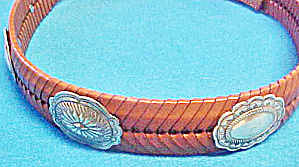 Concho Leather Western Belt  (Image1)