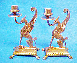 Metal Winged Mythical Animal Candle Holders (Image1)