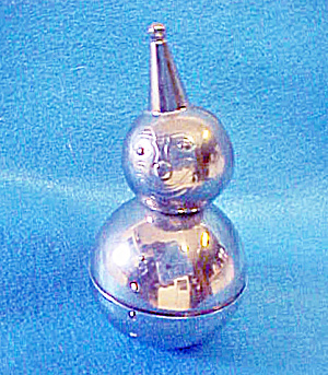 Rolly Polly Clown Metal Bank