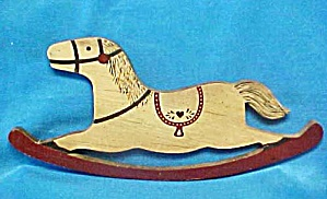 Wood Rocking Horse Wall Art (Image1)