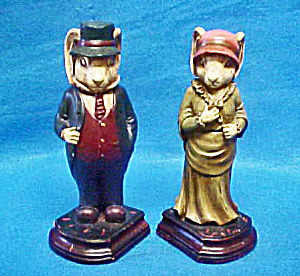 Pair Rabbits Bookends - Vintage