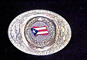 Puerto  Rico Flag  Extra Large Belt Buckle (Image1)