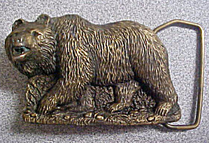 Grizzly Bear Brass/Bronze Belt Buckle (Image1)