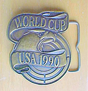 USA World Cup  Metal Sports  Belt Buckle (Image1)
