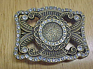 Bejeweled Elegant Metal Belt Buckle (Image1)