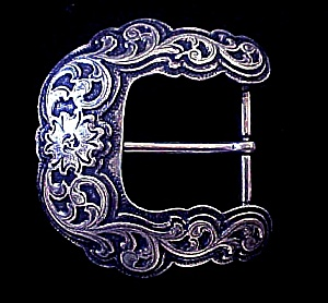 Western Floral Metal Belt Buckle (Image1)