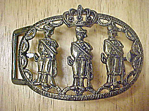 India - Palace Guards Metal Belt Buckle (Image1)