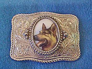 German Shepherd Metal Belt Buckle (Image1)