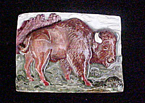 Buffalo Enameled Metal Belt Buckle  (Image1)