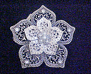 Floral Metal Belt Buckle - Be-Jeweled (Image1)
