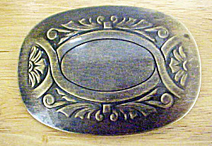 Floral Engraved Metal Belt Buckle (Image1)