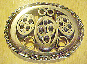 Geometric Forms Metal Belt Buckle (Image1)
