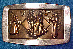 Square Dance Themed Belt Buckle (Image1)