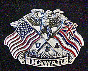 Hawaii Metal Belt Buckle - The Aloha State