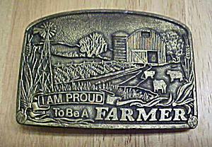 Proud To Be A Farmer Belt Buckle