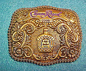 Crown Royal 2008 Advertising Belt Buckle