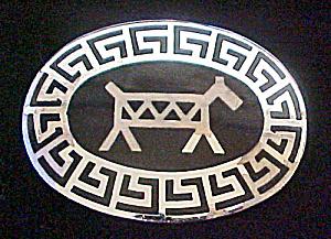 Frontier Buckle w/Standing Horse (Image1)