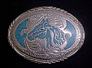 Handcrafted Horse's Head Belt Buckle
