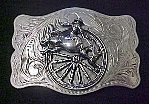 Western Cowboy - Bronco Buster Belt Buckle (Image1)