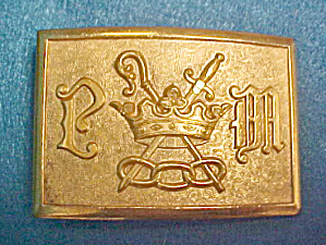 Odd Fellows L00f General Military Belt Buckle