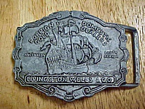Livingston Wells Co. - Metal Belt Buckle (Image1)