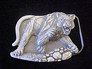 Tanside England Wild Cat Belt Buckle