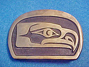 Kwakiutl Seahawk Metal Belt Buckle (Image1)