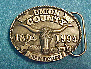 New Mexico - Union County Belt Buckle