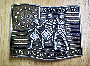 Spirit of '76 U.S. Bicentennial Belt Buckle (Image1)