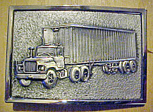 1970's Semi-truck - 18 Wheeler Belt Buckle