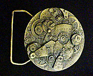 Watch Gear Motif Belt Buckle - 20th Century
