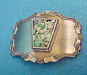 Metal Belt Buckle W/colorful Stone Chips