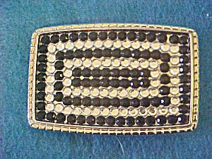 Black & Clear Crystal Belt Buckle (Image1)