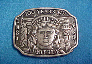 Statue of Liberty Metal Belt Buckle - 20th C (Image1)