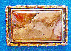Jasper Picture Stone Belt Buckle