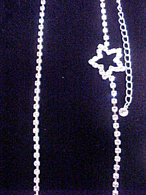Rhinestone Rope Necklace - 30 Inch