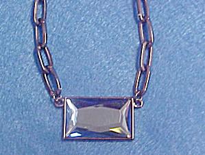 Lia Sophia Blue Radiant Cut Crystal Pendant (Image1)